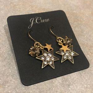 J. Crew Star Earrings NEVER WORN